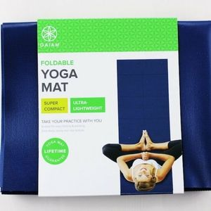 Gaiam Foldable Yoga Mat Blue